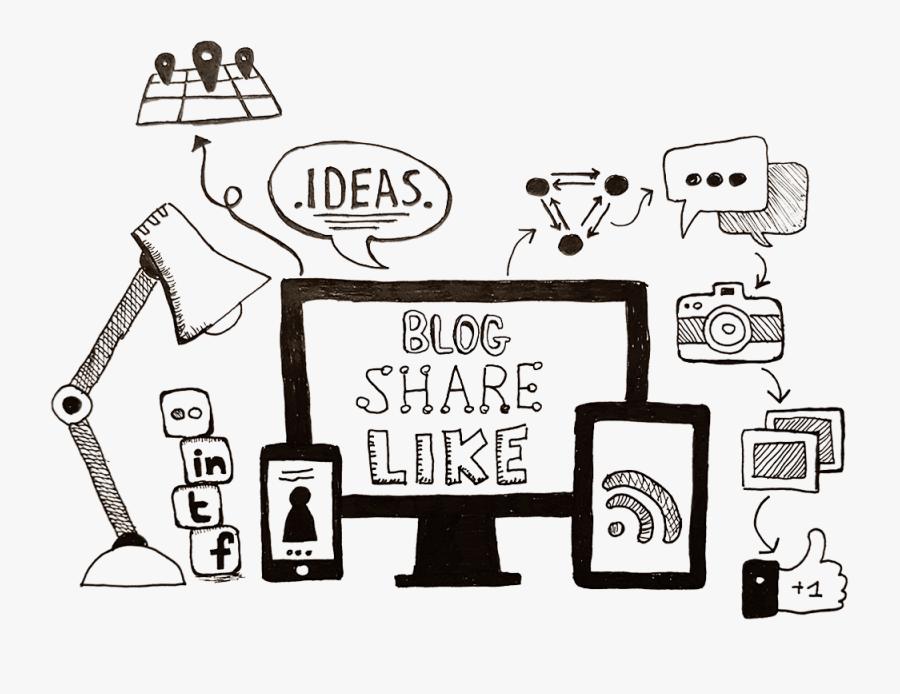 Digital Marketing Line Art, Transparent Clipart