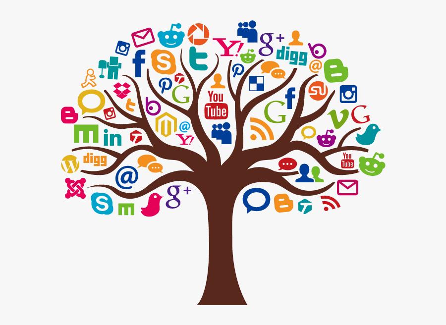 Social Media Marketing Icon - Social Media Icon Tree, Transparent Clipart