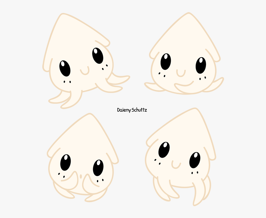 Collection Of Free Squid Drawing Easy Download On Ui - Anime Kawaii Chibi Detail, Transparent Clipart