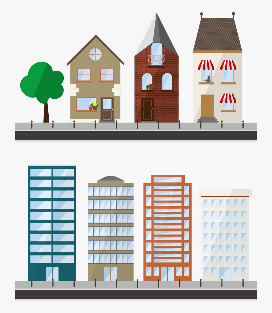 Transparent Apartment Clipart - Free Apartment Building Vectors, Transparent Clipart