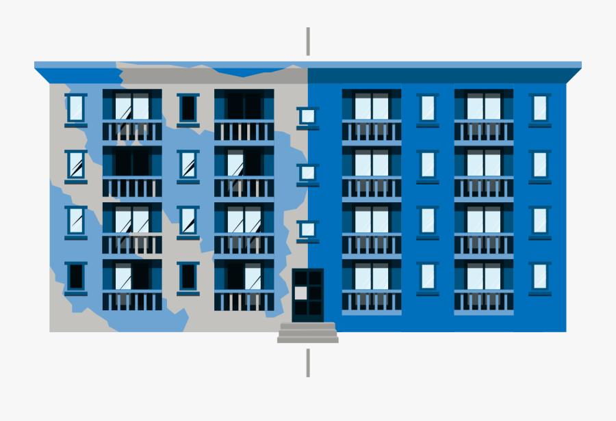 Building Fix Flip Loans - Apartment Building Flip, Transparent Clipart