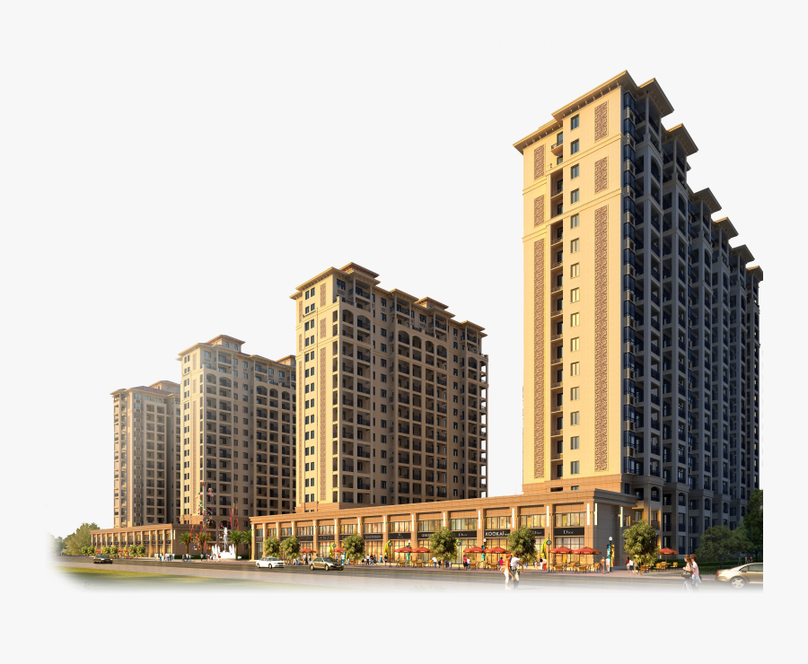 Real Building Kalwa, Apartment House High-rise Thane - Apartment Building Png, Transparent Clipart