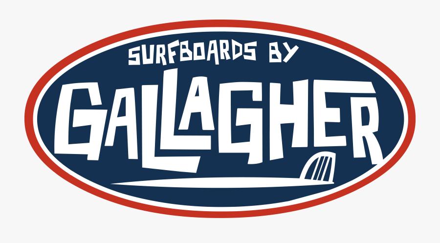 Gallagher Surfboards And Skateboards - Vintage Surfboard Logo, Transparent Clipart