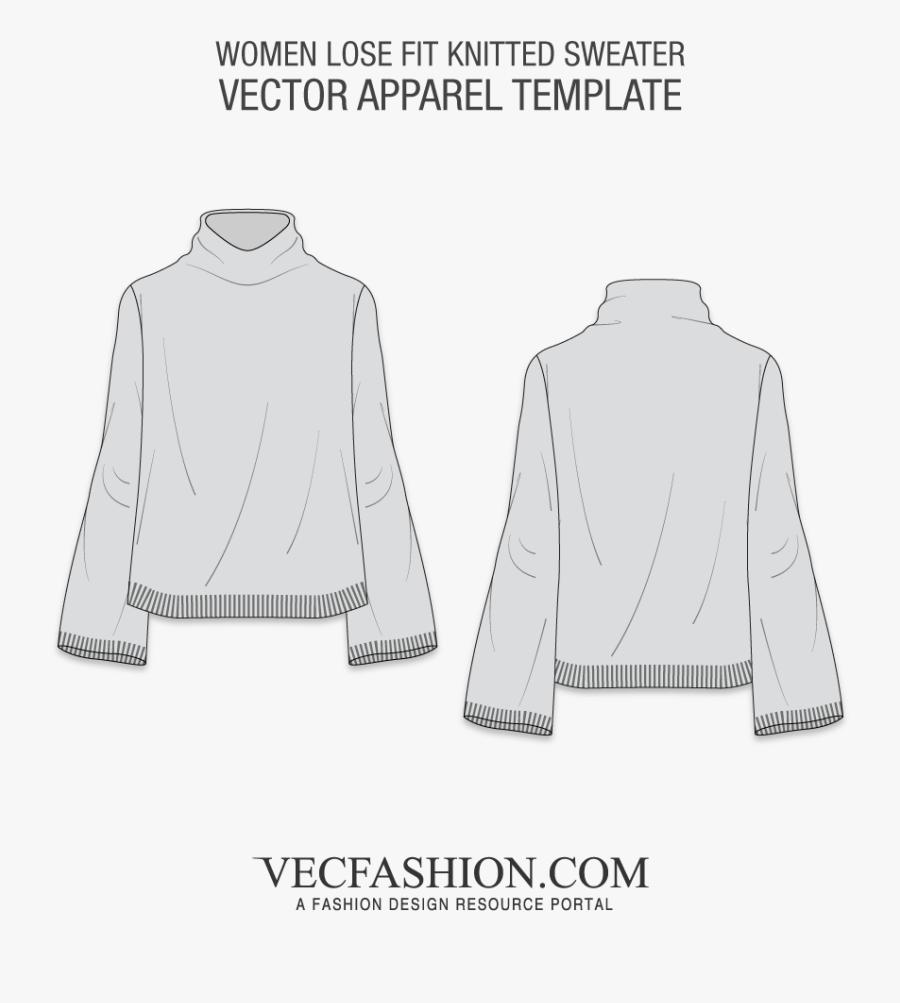 Sweater Vector - Knit Sweater Design Template, Transparent Clipart