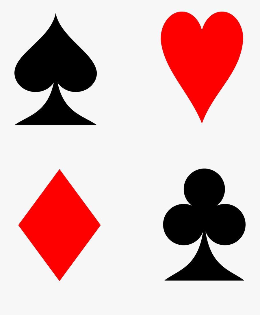 Playing Cards, Cards, Suit, Spades, Hearts, Diamonds - Corazones De Las Cartas, Transparent Clipart
