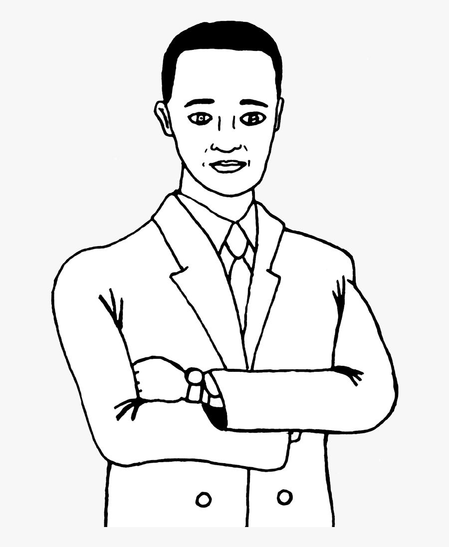 Maninsuit - Man Wearing Suit Drawing, Transparent Clipart