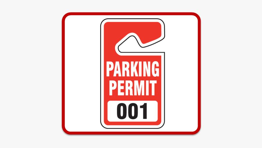 Parking Lot Permits - Parking Lot Permit, Transparent Clipart