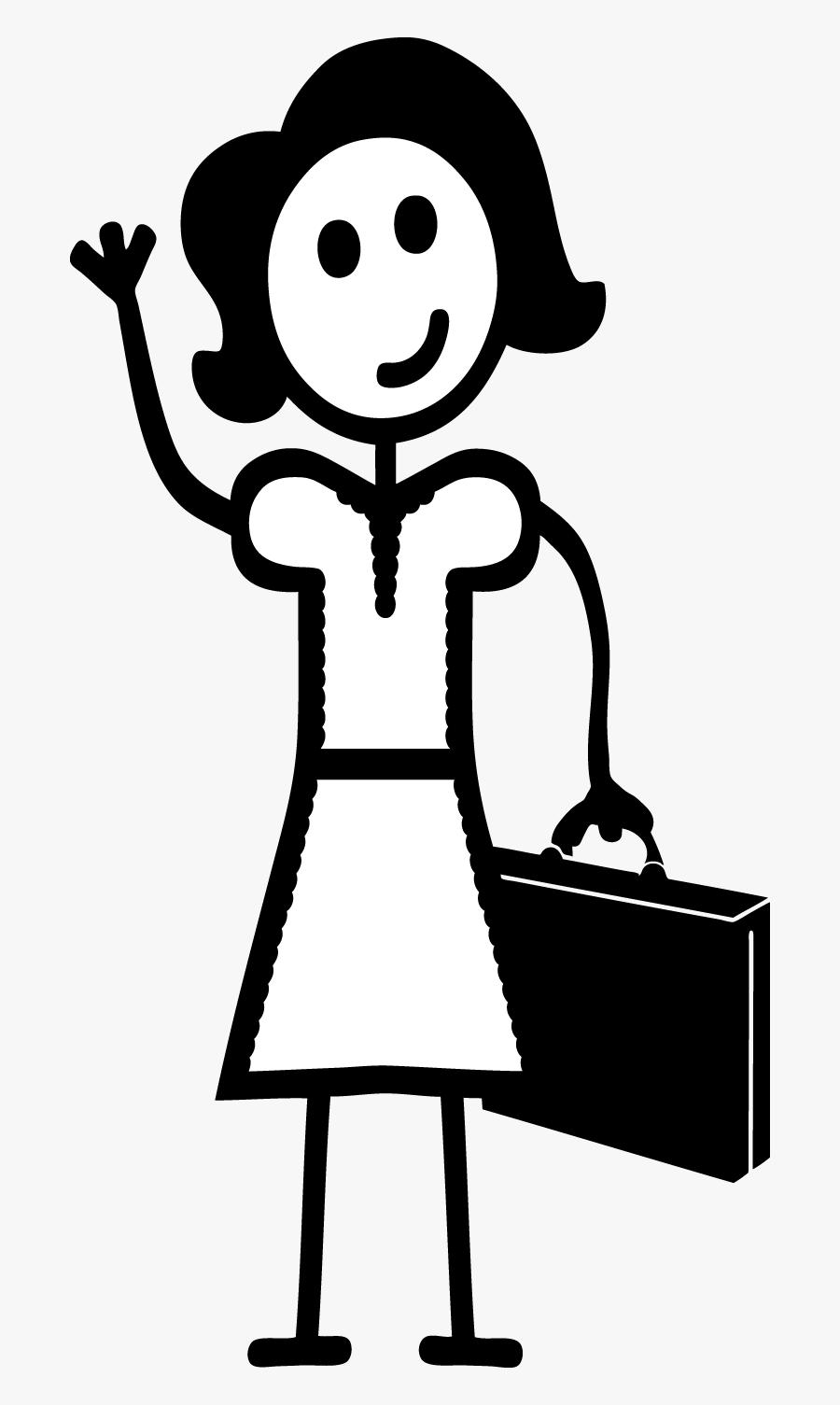 Transparent Stick Figure Family Clipart - Stick Figure Mom Clip Art, Transparent Clipart
