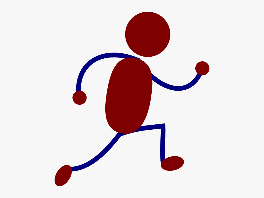 Free Stick Figure Clip Art - Stick Man Running, Transparent Clipart
