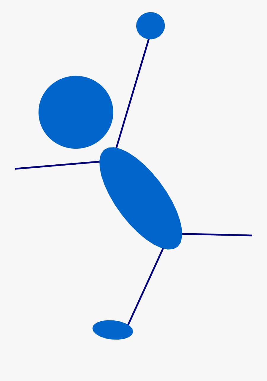 Free Blueman - Stick Figure Lying Down, Transparent Clipart