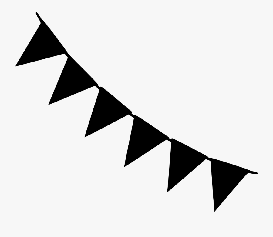 Party Banner Clipart Black And White Png, Transparent Clipart
