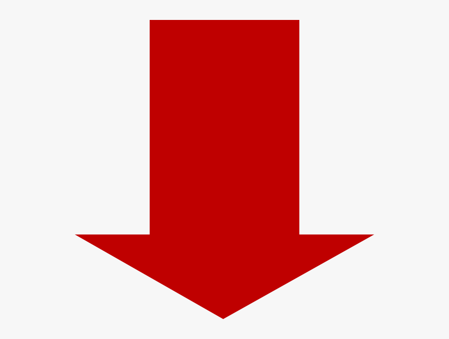 Red Down Arrow Clip Art - Red Arrow Down Png, Transparent Clipart
