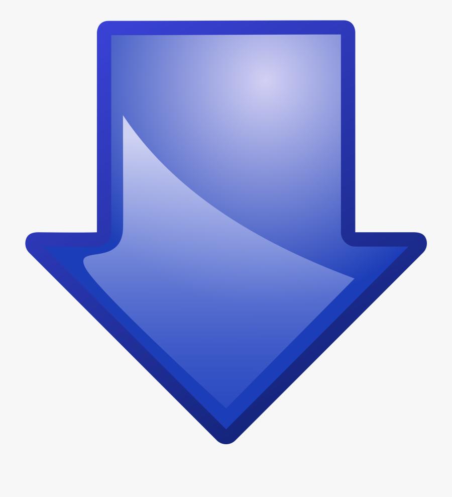 Arrow Blue Down Clip Arts - Blue Arrow Pointing Down Transparent, Transparent Clipart