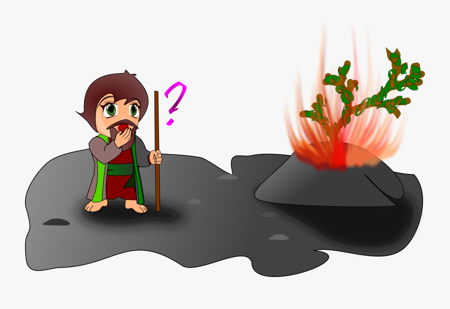 Moses And The Burning Bush Clipart, Transparent Clipart