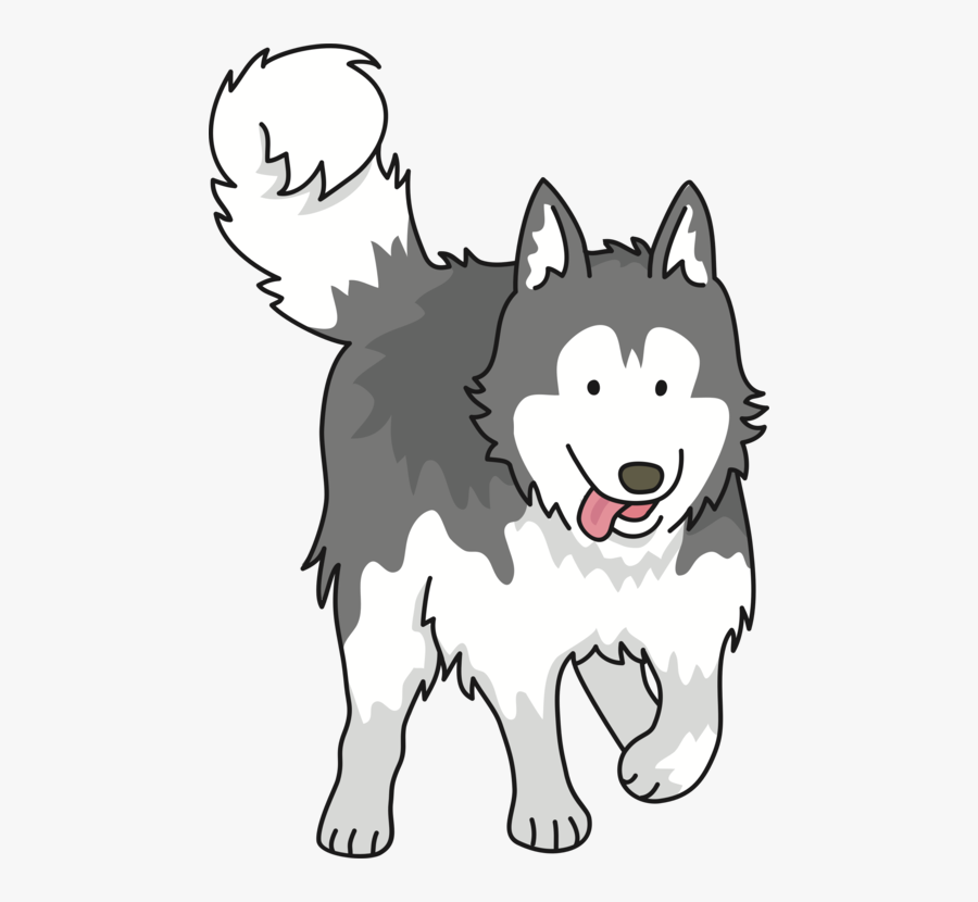 Line Art,head,siberian Husky - Dog Husky Clipart Png, Transparent Clipart