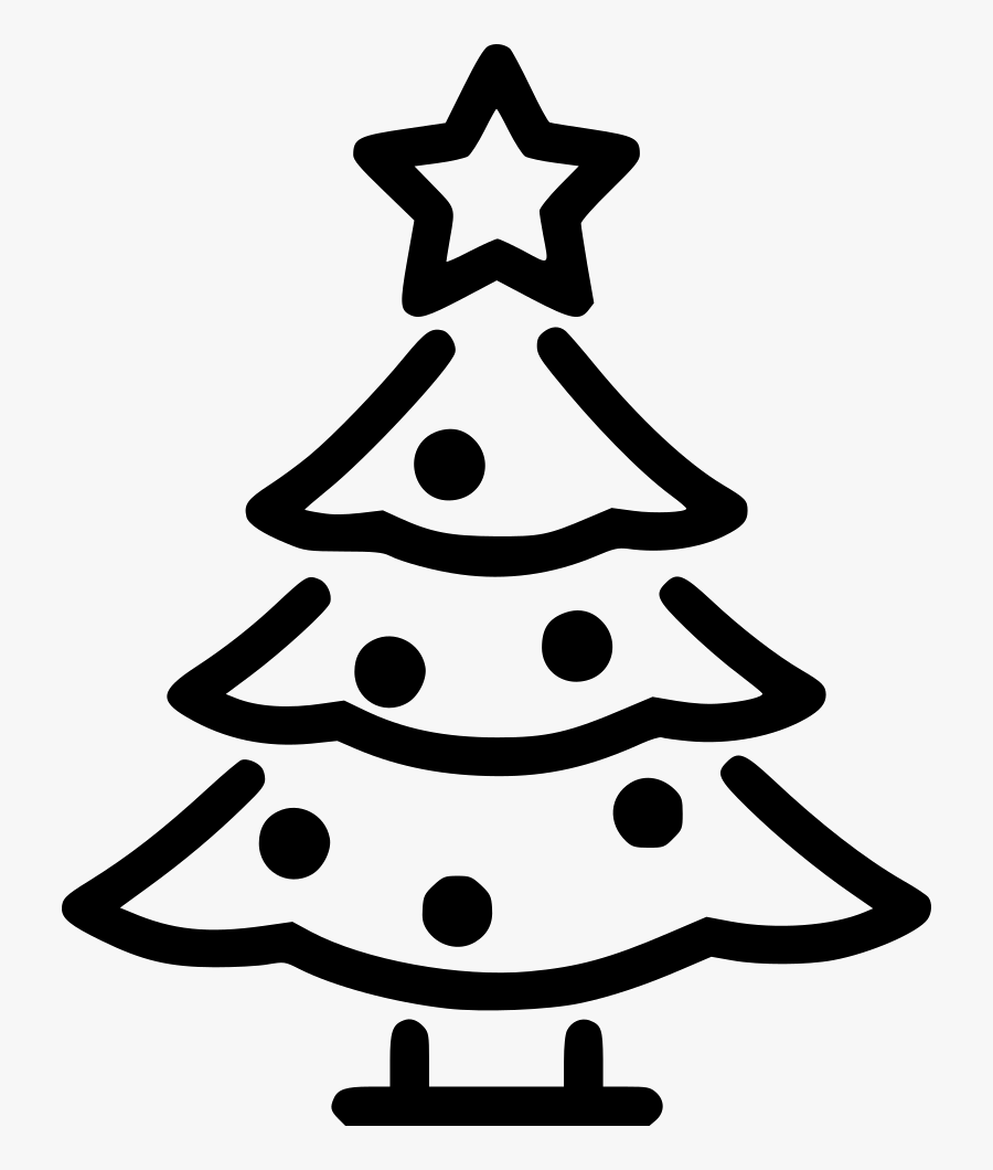 Christmas Tree,christmas Decoration,tree,line Art,clip - Xmas Icon, Transparent Clipart