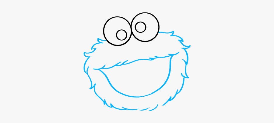 How To Draw Cookie Monster From Sesame Street - Cookie Monster Drawing Easy, Transparent Clipart