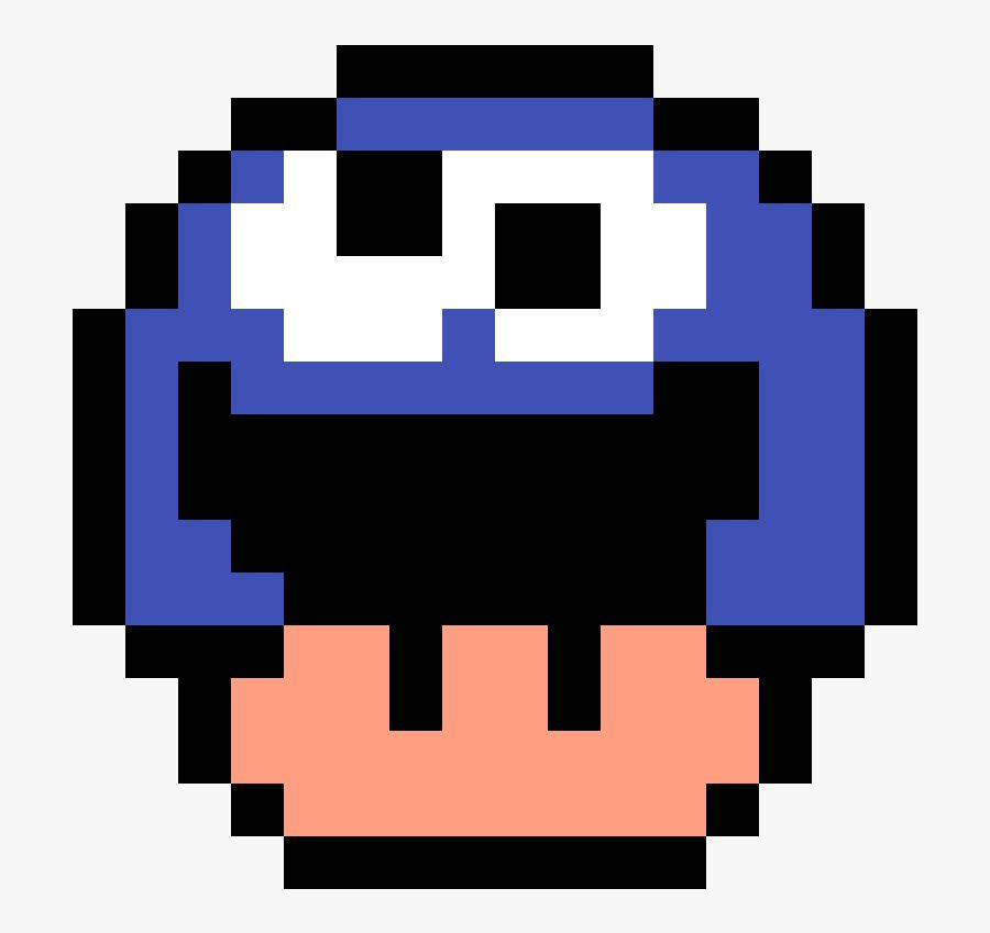Mario Mushroom Pixel Art Free Transparent Clipart Clipartkey