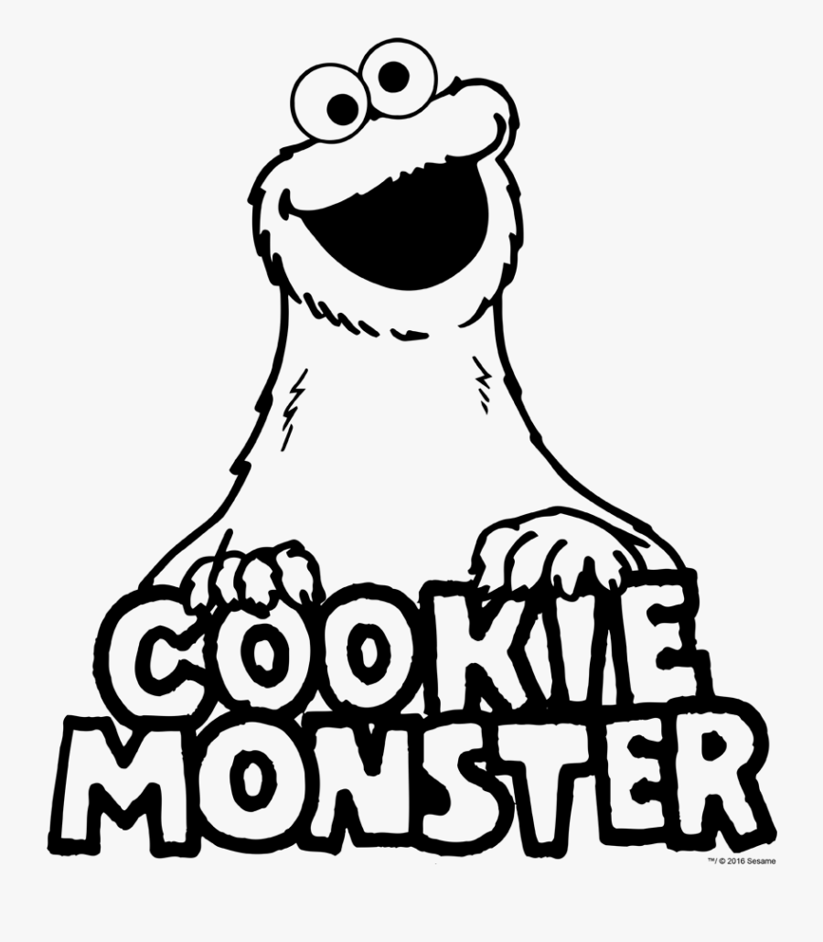 Cookie Monster Black And White, Transparent Clipart