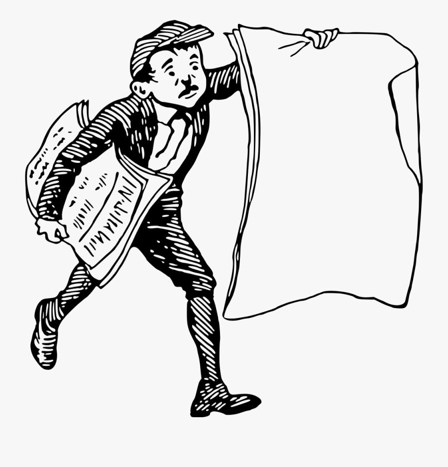 Paper Boy - Vector Paper Boy, Transparent Clipart