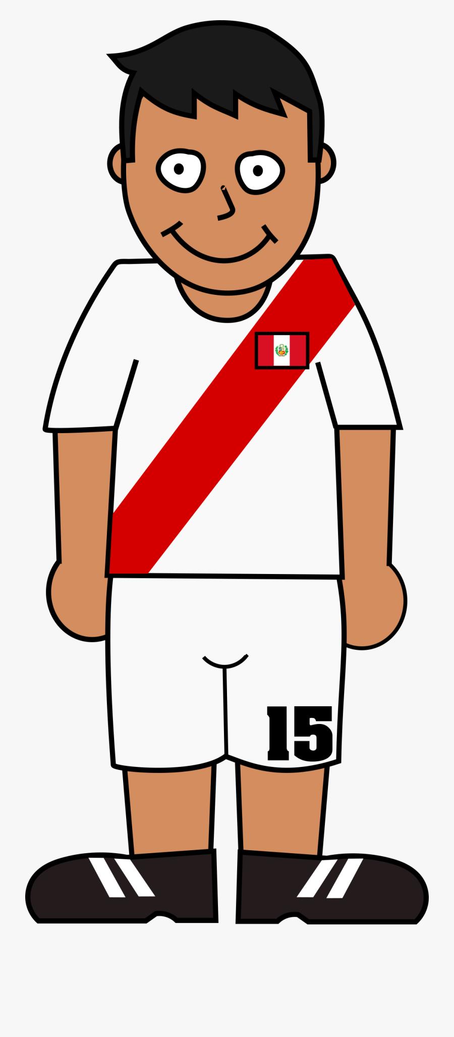 Football Player Peru Transparent - World Cup Soccer Player Clipart Png, Transparent Clipart