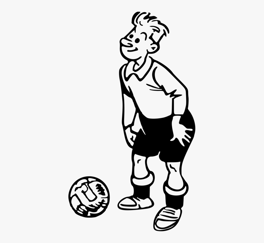 Transparent Football Player Clipart - Drawings Of Sports Player, Transparent Clipart