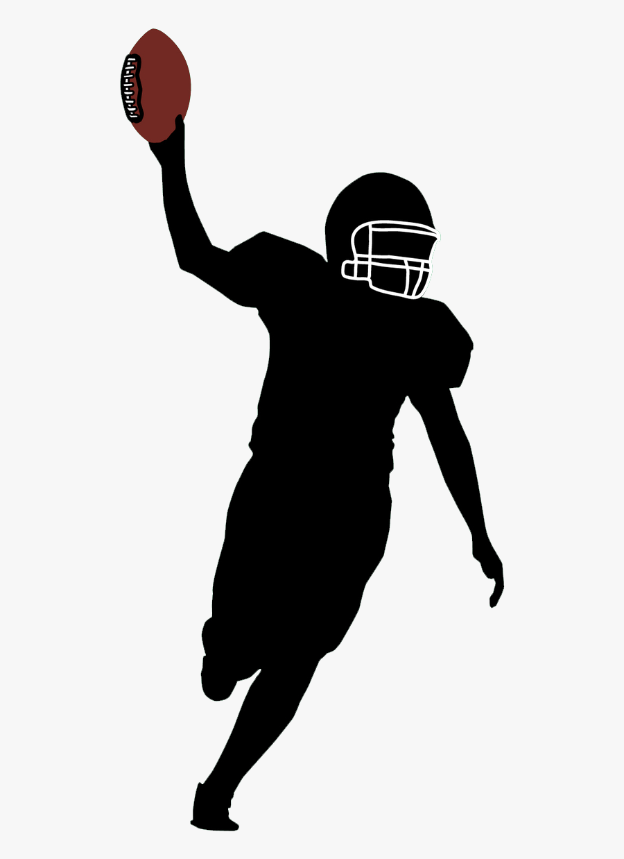 Basketball Fan Football,team Sport,throwing A Ball,clip - Football Player Silhouette Png, Transparent Clipart