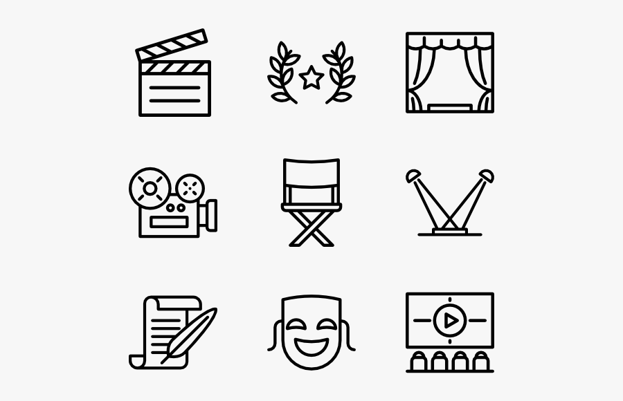 Cinema Elements - Furniture Icons Top View, Transparent Clipart