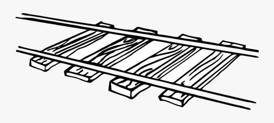 Railroad, Track, Train - Railroad Clipart, Transparent Clipart