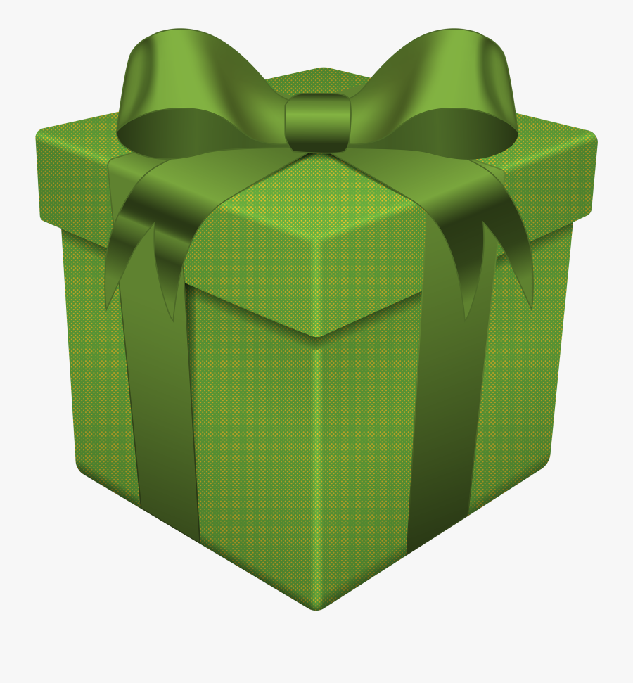 Gift Box Transparent Png - Green Gift Box Png, Transparent Clipart