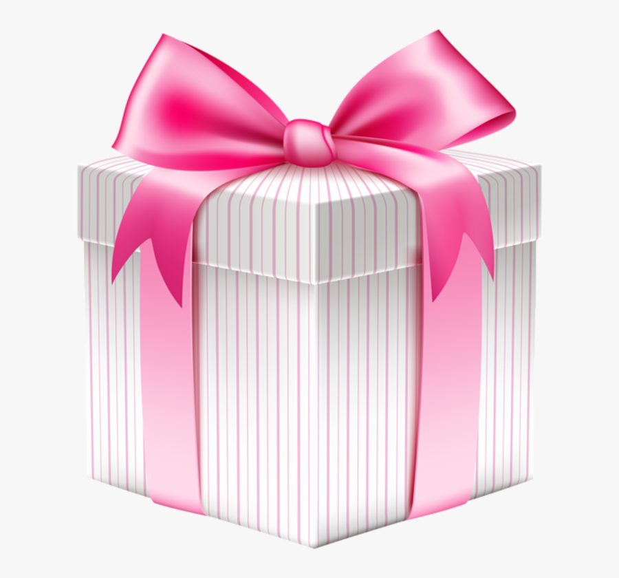Clip Art Pink Giftbox - Happy Birthday Gift Box Png, Transparent Clipart
