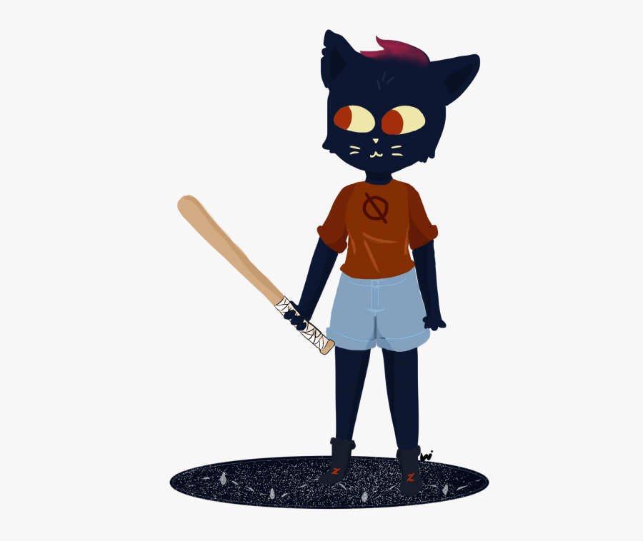Night In The Woods Baseball Bat, Transparent Clipart