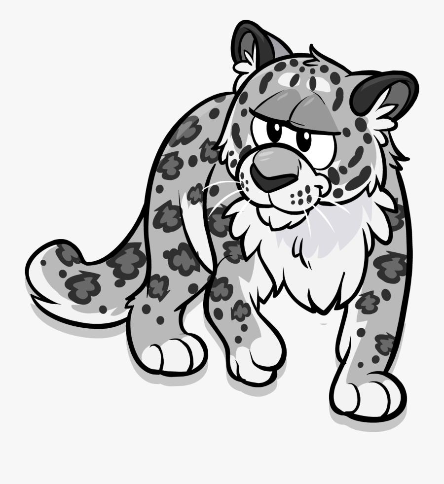 Club Penguin Wiki - Snow Leopard Clipart Png, Transparent Clipart