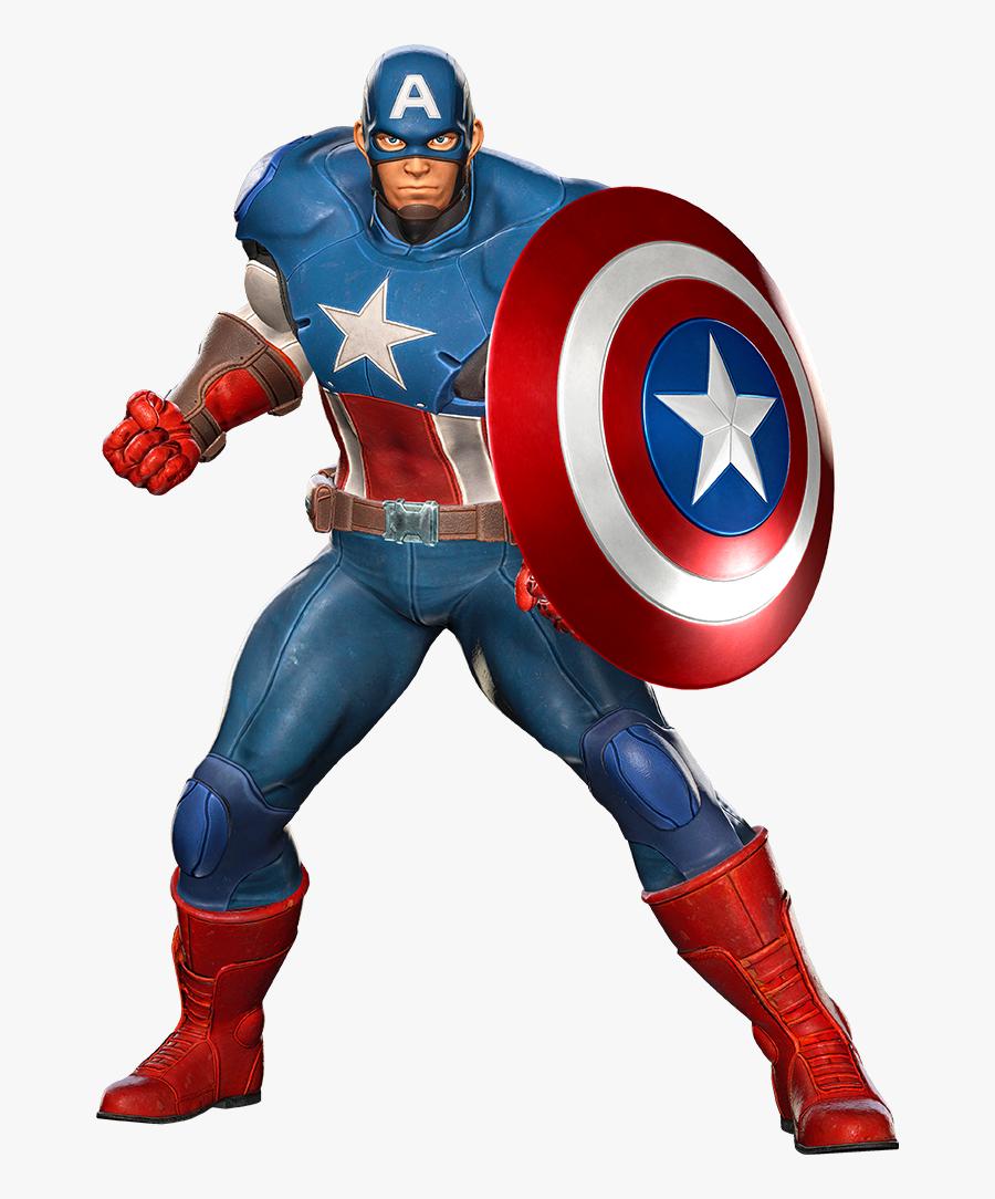 Transparent Captain America Clipart - Marvel Vs Capcom Infinite Captain America, Transparent Clipart