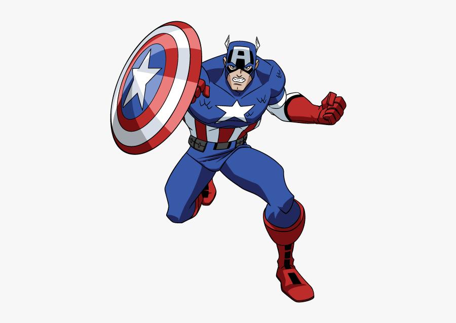 Clip Art Avengers Desenho Png - Captain America Avengers Cartoon, Transparent Clipart