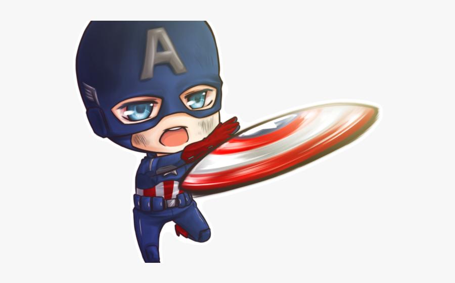 Captain America Clipart Child - Transparent Captain America Chibi Png, Transparent Clipart