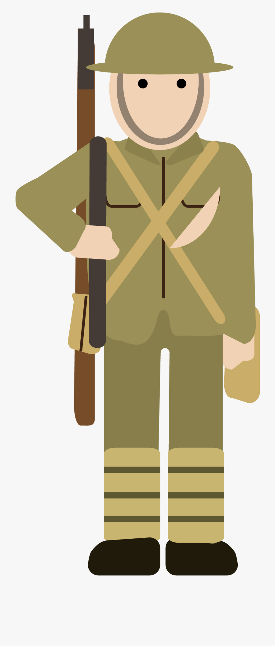Military Clipart Ww1 - Cartoon Simple World War 1, Transparent Clipart