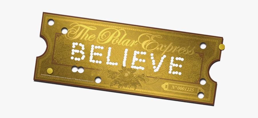Polar Express Golden Ticket , Free Transparent Clipart ...