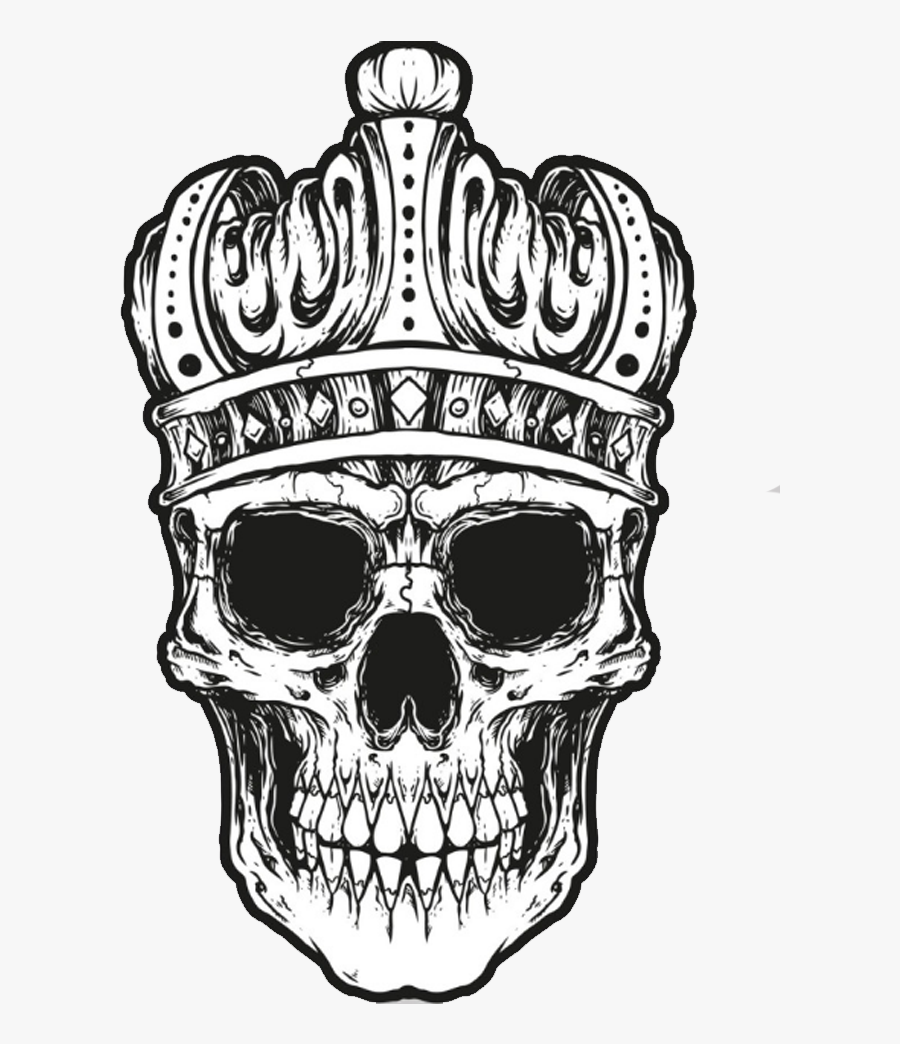 Crown Skull Pillow Clip Art - Skull With Crown Png, Transparent Clipart