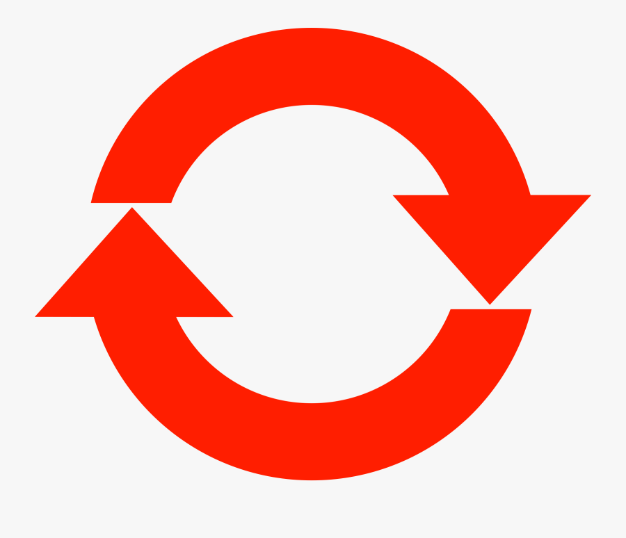 Refresh Icon, Simple - Red Circle Arrow Png, Transparent Clipart