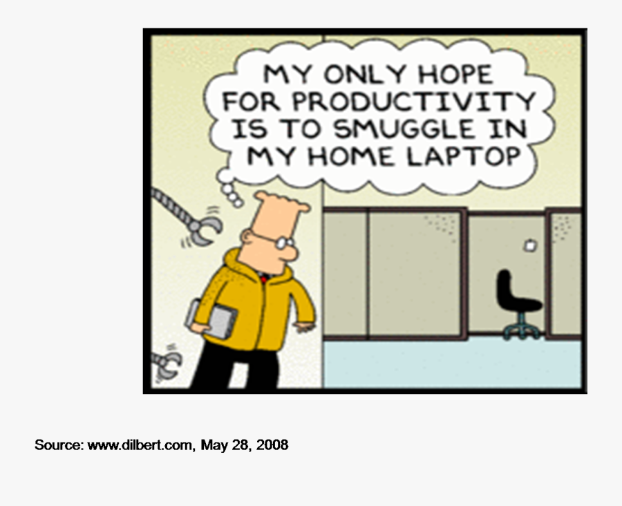 Dilbert Wants His Own - Software Defined Networking Cartoon, Transparent Clipart