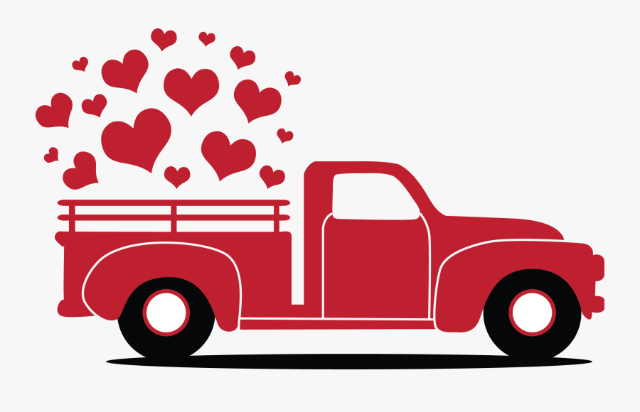 Transparent Red Truck Png Free Valentine Truck Svg Free Transparent Clipart Clipartkey