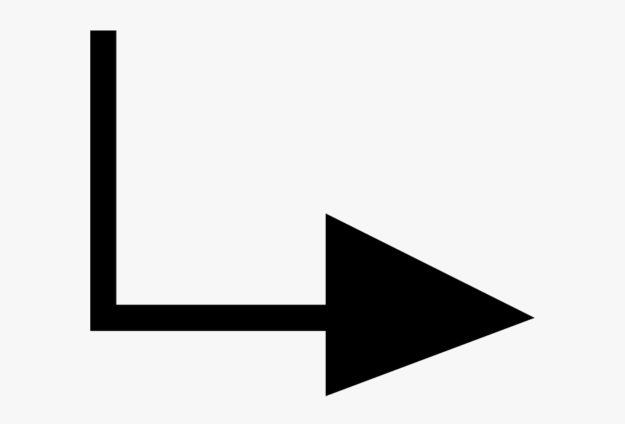 Right, Arrow, Down, Text, Pointing, Arrows, Redirect - Arrow Pointing Down And To The Right, Transparent Clipart
