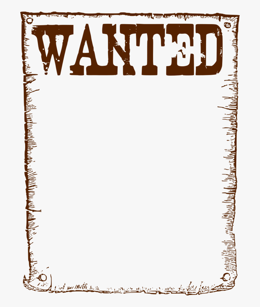 Wanted Poster Clipart Clipart - Poster, Transparent Clipart