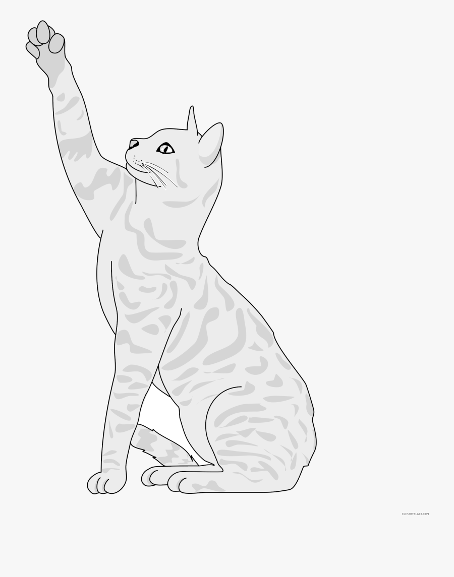 Tabby Cat Clipart Cat Tail - Cat Yawns, Transparent Clipart