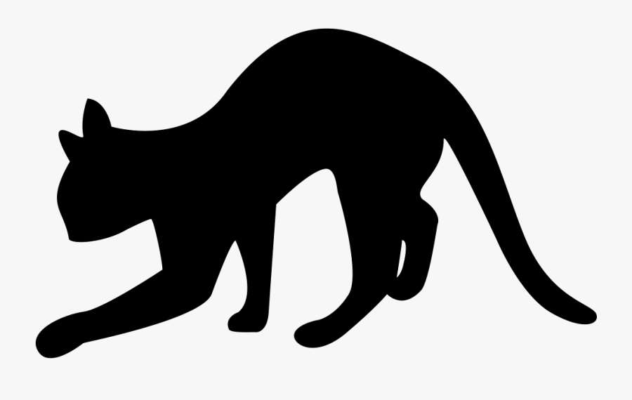 Black Cat Silhouette Svg Png Icon Free Download - Cat Silhouette, Transparent Clipart