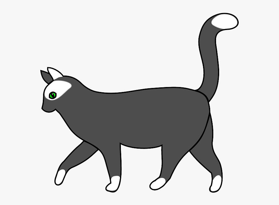 Mammal Cat, Animal, Walking, Mammal - Walking Cat Clip Art, Transparent Clipart