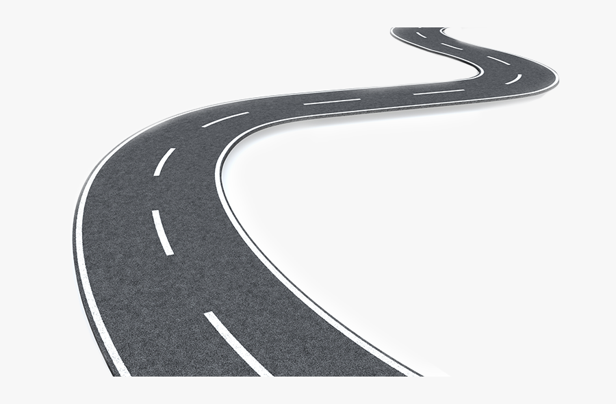 Transparent Road Lines Png - Winding Road Png, Transparent Clipart