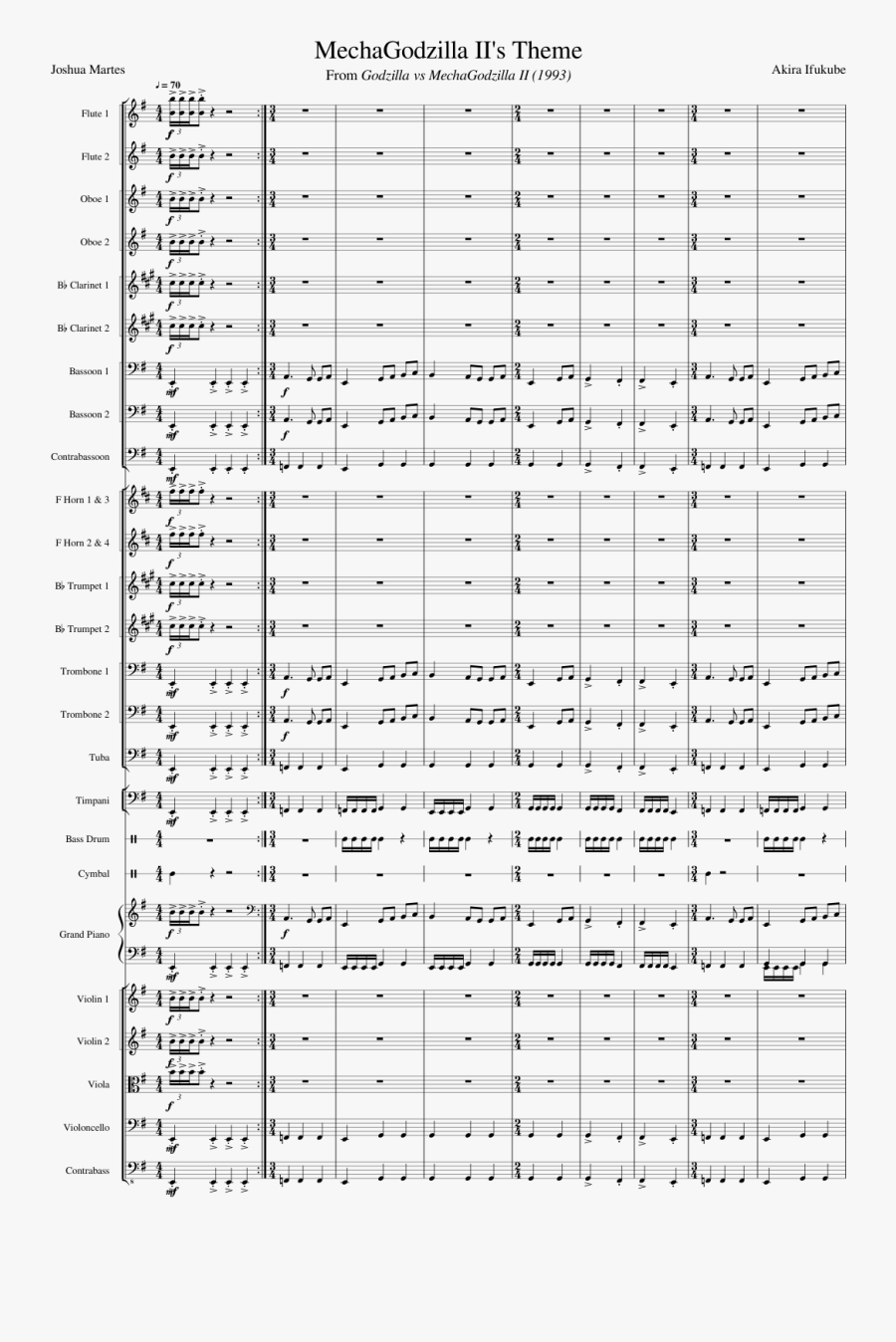 The Long And Winding Road Sheet Music Composed By John - Godzilla Vs King Ghidorah Theme Sheet Music, Transparent Clipart