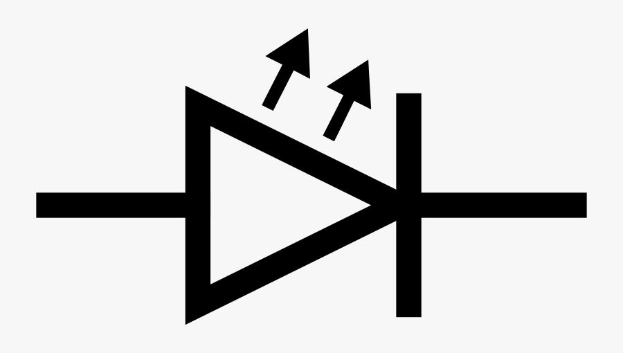 Free Iec Led Symbol - Symbol Of Led Diode, Transparent Clipart